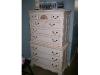 Deco white with walnut glaze dresser