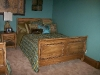 Distressed pine bed