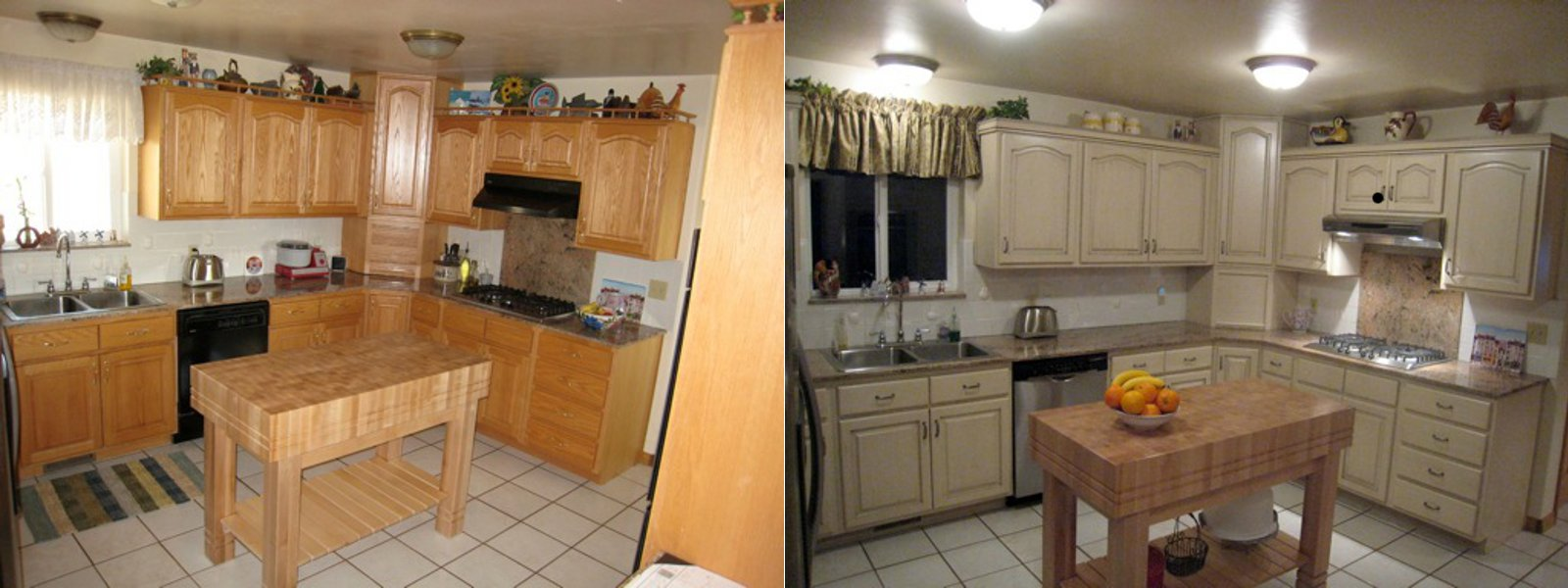before and after telisa s furniture and cabinet techniques in creating refinished kitchen cabinets before