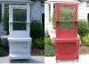 Refinished door Before and After - Farm Door