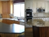 Refinished Cabinets Before and After - Maple Cabinets