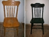 Refinished Furniture Before and After - Oak Antiqued Oak Chair