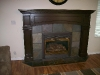 Chocolate brown fire mantel
