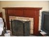 Red Glazed Fireplace Mantel