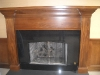 Refinished fireplace mantel