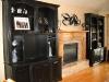 Black bookcase wall unit