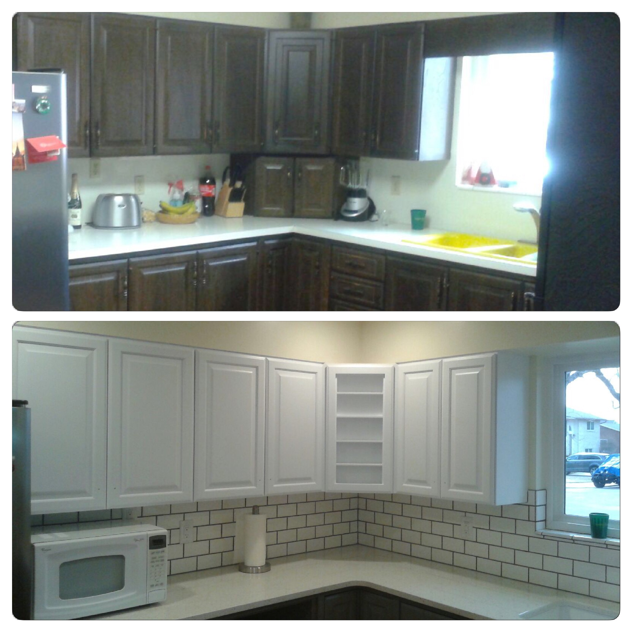Refinishing Oak Kitchen Cabinets: Before And After Telisa's Furniture And Cabinet