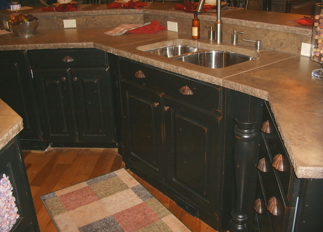 Cabinets Telisa 39 S Furniture And Cabinet Refinishing For Antique Black Kitchen